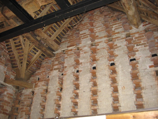 Interior of Eardisland Pigeon House (Dovecote)