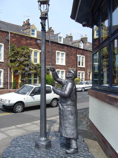 Statue outside Maryport Library