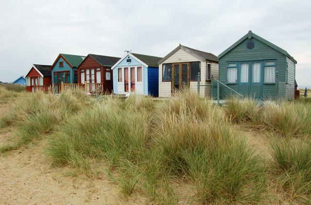 Beach Huts at Mudeford Sandbank