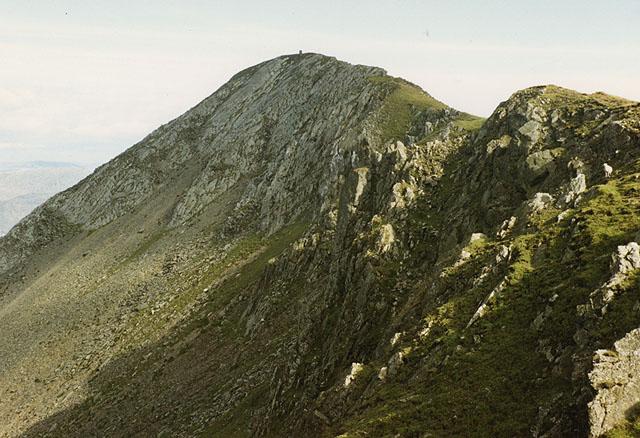 The summit of Moelwyn Mawr