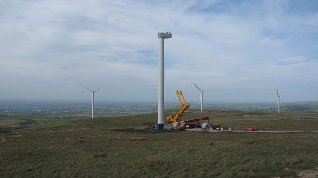 Turbine Tower No 20 under construction