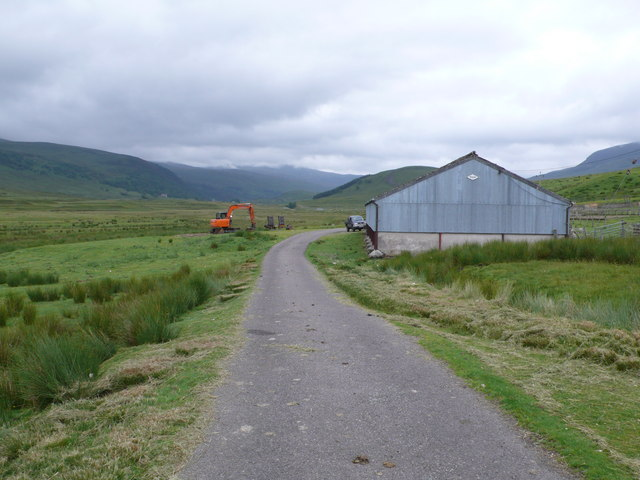 Agricultural shed and sheep pens, Strathvaich