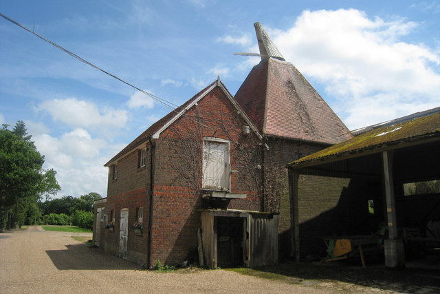 Unconverted Oast House at Castlemaine Farm, Rams Hill, Horsmonden, Kent
