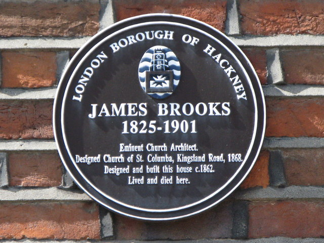 Photo of James Brooks brown plaque