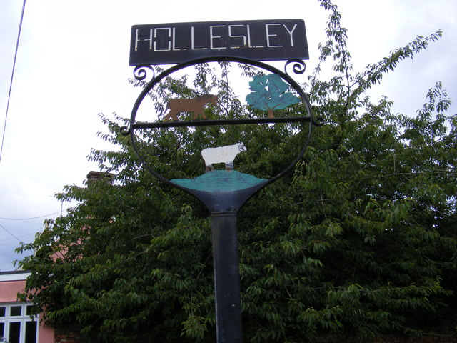 Hollesley Village Sign (Close Up)