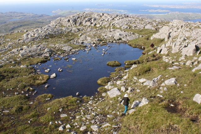 Lochan on Suaineabhal North Ridge
