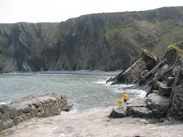 View down the slipway at Hartland Quay