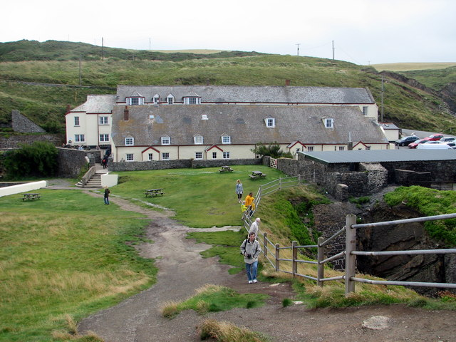 The buildings at Hartland Quay
