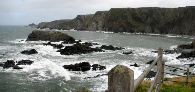 View looking north from Hartland Quay