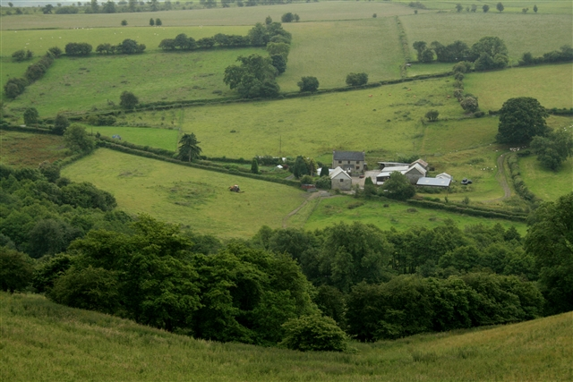 New House Farm from above Bryntegan