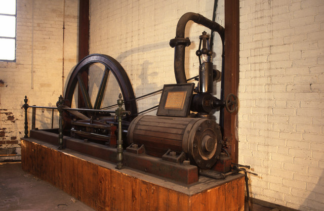Steam engine, engineering works, Barnsley