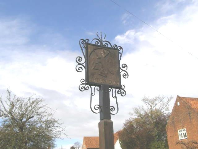 Upton 2000 village sign