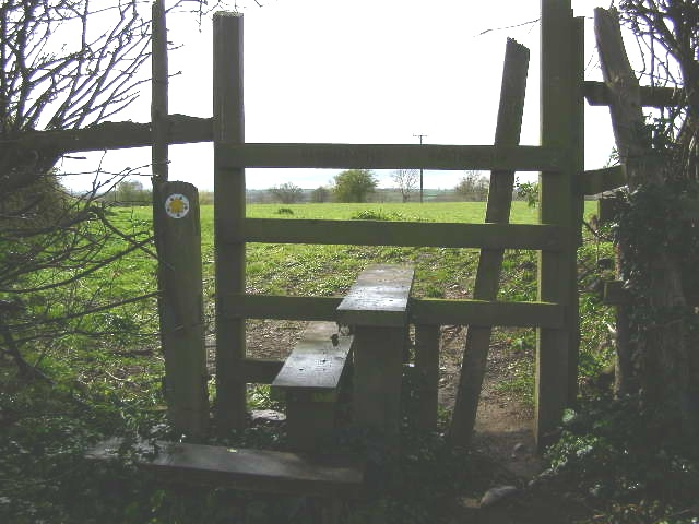 Stile on Hockerton Lane