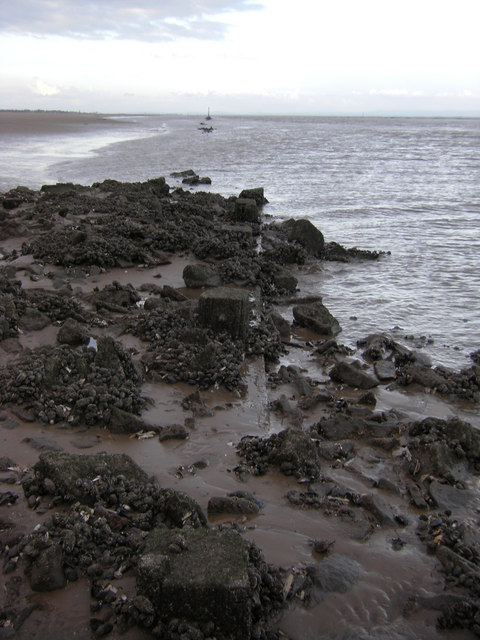 Peet's Light, ruined Pile Lighthouse, Ribble Channel
