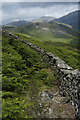NY2001 : Footpath and fellside wall, Eskdale : Week 28