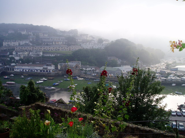Looe in the mist