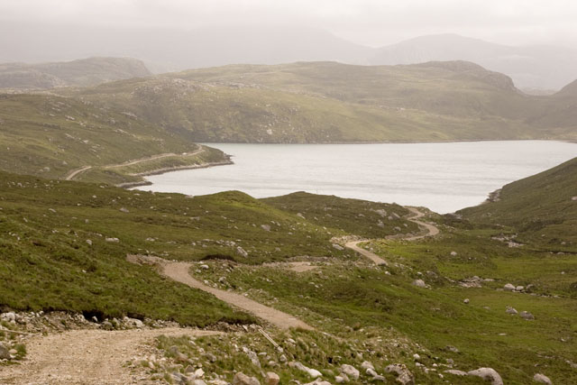 The road down to Loch Cheann Chuisil