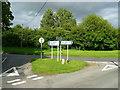 TL2579 : Road junction and sign, Little Raveley by Jonathan Billinger