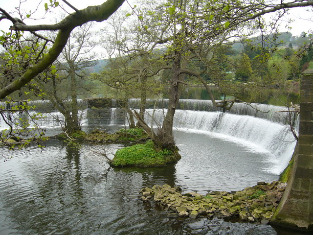 Belper mill weir