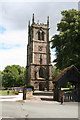 SJ7049 : Wybunbury: Tower of St. Chad's Church by Dr Neil Clifton