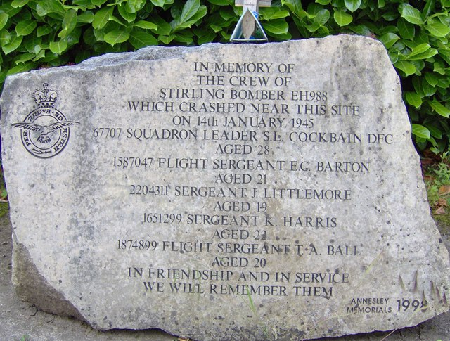 RAF Stirling memorial stone, Annesley