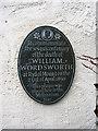 Photo of William Wordsworth grey plaque