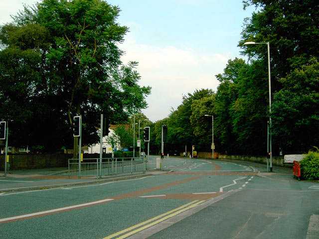 Wilmslow Road, Manchester - looking south