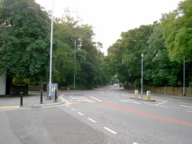 Wilmslow Road, Manchester - looking north