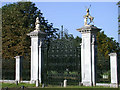 TL3250 : Wimpole Hall gates by Keith Edkins