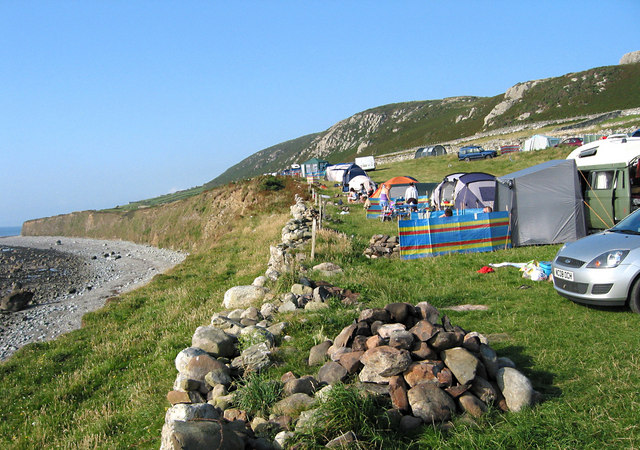 The Cae Du camp site