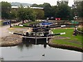 SE1422 : Upper Lock, Brighouse Canal Basin by Alison Marchant