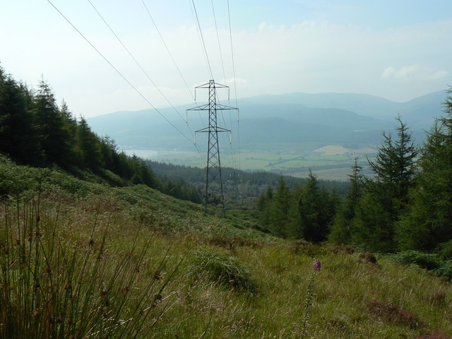 Puck's Glen to Gairletter walk, Power lines