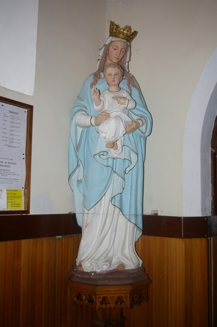 Statue of Virgin Mary and Christ child