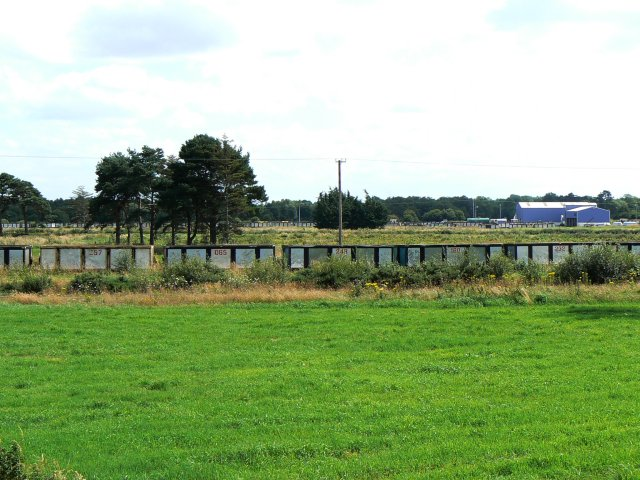 Railway wagons of turf