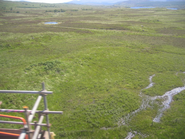 The view from Rannoch viaduct