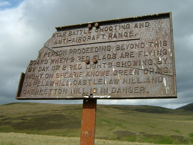 Warning sign from days gone by
