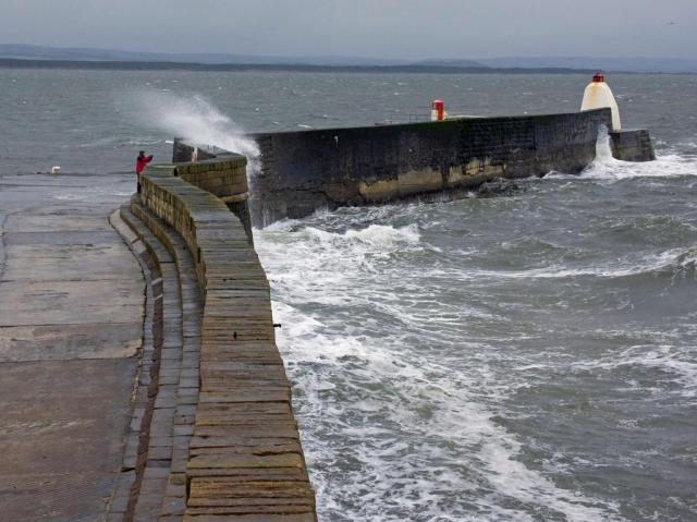 Windy day in Burghead