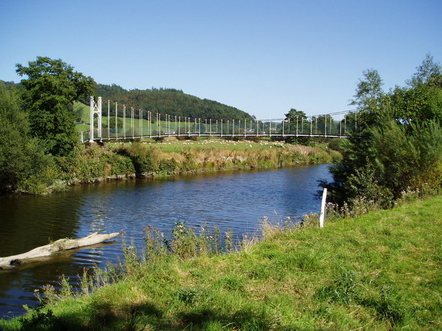 River Severn, Aberhafesp festival footbridge