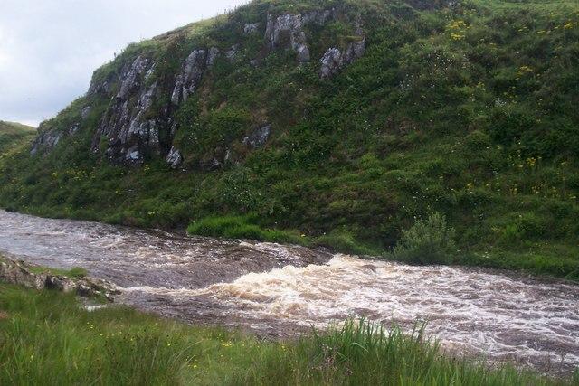 Stenscholl river in spate
