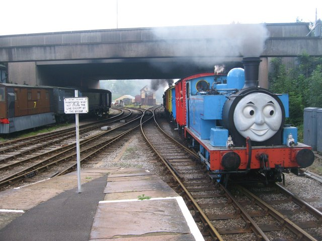 Thomas the Tank Engine arrives at Bury