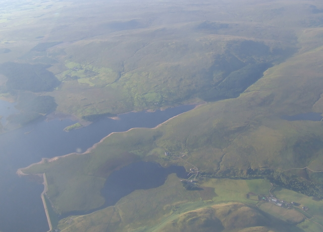 Loch Thom and Compensation Reservoir from the air