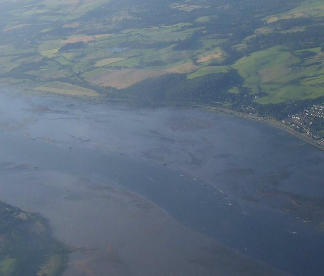 River Clyde navigable channel from the air