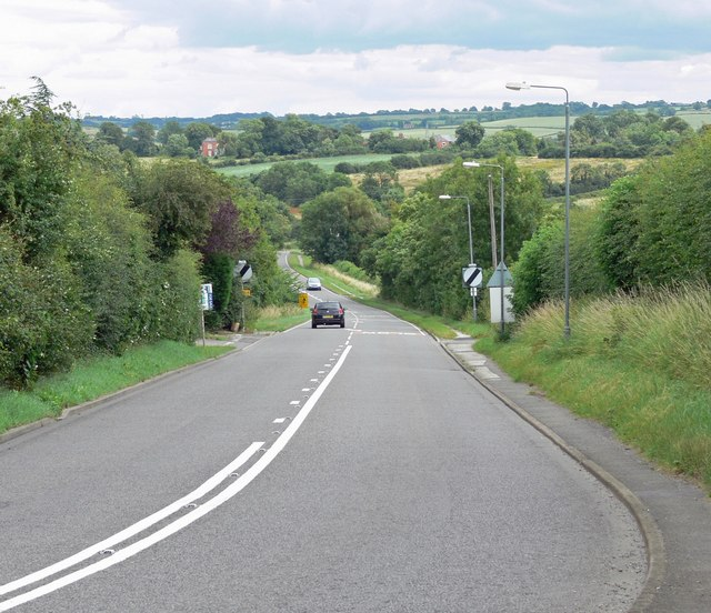 A606 Melton Road near Upper Broughton