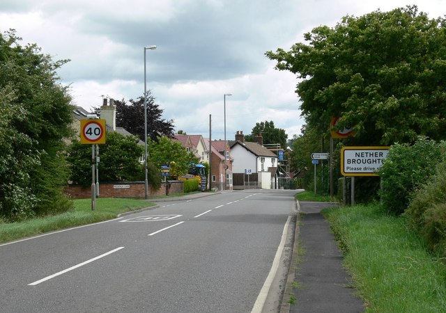 A606 Main Road in Nether Broughton