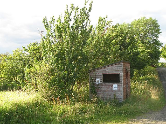 Bus shelter near Penton