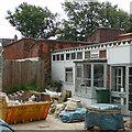 TQ4572 : Shop (under restoration), Woodside Crescent, Sidcup, Kent by Roger  Kidd