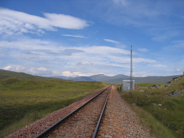 The West Highland Railway track and repeater station