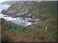 SW4123 : South West Coast path at Porthguarnon by Row17