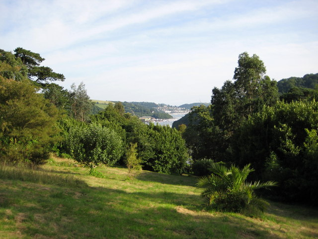 View down the Dart Estuary towards Kingswear
