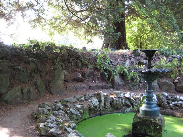 Pet graveyard at Greenway